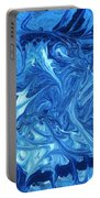 Abstract - Nail Polish - Ocean Deep Portable Battery Charger by Mike Savad