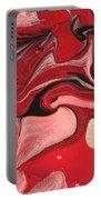 Abstract - Nail Polish - Raspberry Nebula Portable Battery Charger by Mike Savad