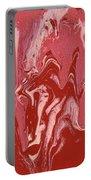 Abstract - Nail Polish - Tongue Portable Battery Charger by Mike Savad