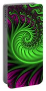Abstract Neon Colors Fractal Portable Battery Charger