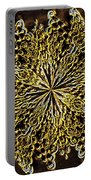 Abstract Neon Gold Portable Battery Charger