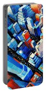 Abstract New York Sky View Portable Battery Charger