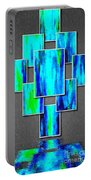 Abstract Ocean Tiles Portable Battery Charger