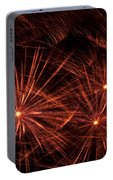 Abstract Of Fireworks On Black Portable Battery Charger