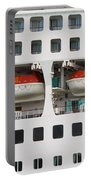 Abstract Of Lifeboats On A Large Cruise Ship Portable Battery Charger