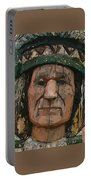Abstract Of Wooden Indian Head Portable Battery Charger