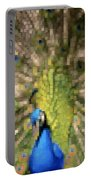 Abstract Peacock Digital Artwork Portable Battery Charger