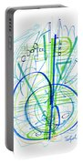 Abstract Pen Drawing Fifty-eight Portable Battery Charger