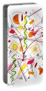 Abstract Pen Drawing Fifty-five Portable Battery Charger