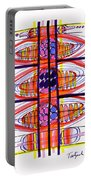 Abstract Pen Drawing Fifty Portable Battery Charger
