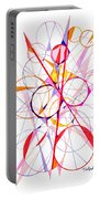 Abstract Pen Drawing Fifty-one Portable Battery Charger