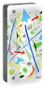 Abstract Pen Drawing Fifty-three Portable Battery Charger