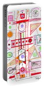 Abstract Pen Drawing Fifty-two Portable Battery Charger
