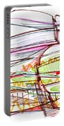 Abstract Pen Drawing Forty-five Portable Battery Charger