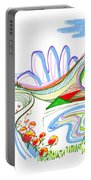 Abstract Pen Drawing Forty-four Portable Battery Charger
