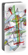 Abstract Pen Drawing Forty-nine Portable Battery Charger