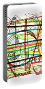 Abstract Pen Drawing Forty-seven Portable Battery Charger