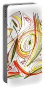 Abstract Pen Drawing Forty-six Portable Battery Charger