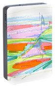 Abstract Pen Drawing Forty-three Portable Battery Charger