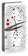 Abstract Pen Drawing Seventy-eight Portable Battery Charger