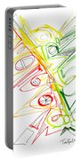 Abstract Pen Drawing Seventy-one Portable Battery Charger