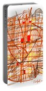 Abstract Pen Drawing Sixty-one Portable Battery Charger