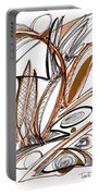 Abstract Pen Drawing Sixty-six Portable Battery Charger
