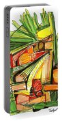 Abstract Pen Drawing Sixty-two Portable Battery Charger