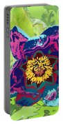 Abstract Peonies Portable Battery Charger