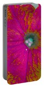 Abstract Petunia Portable Battery Charger