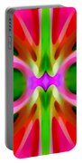 Abstract Pink Tree Symmetry Portable Battery Charger