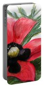 Abstract Poppy Portable Battery Charger