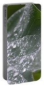 Abstract Rain Glitter Portable Battery Charger