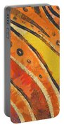 Abstract Rainbow Tiger Stripes Portable Battery Charger by Pixel Chimp