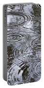 Abstract Raindrops Portable Battery Charger by Christina Rollo