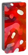 Abstract Red Sun Portable Battery Charger by Amy Vangsgard