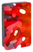 Abstract Red Sun Portable Battery Charger