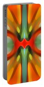 Abstract Red Tree Symmetry Portable Battery Charger by Amy Vangsgard