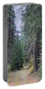 Abstract Road In The Wilderness Portable Battery Charger