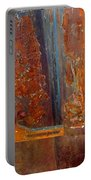 Abstract Rust Portable Battery Charger