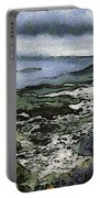 Abstract Seascape Morro Bay California Portable Battery Charger