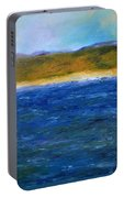 Abstract Shoreline Portable Battery Charger