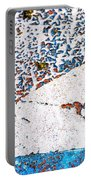 Abstract Snow Storm Portable Battery Charger