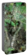 Abstract Spider Web Portable Battery Charger