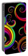 Abstract - Spirals - Inside A Clown Portable Battery Charger by Mike Savad