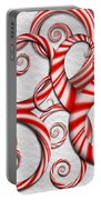 Abstract - Spirals - Peppermint Dreams Portable Battery Charger