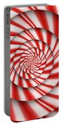 Abstract - Spirals - The Power Of Mint Portable Battery Charger by Mike Savad