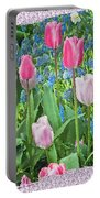 Abstract Spring Floral Fine Art Prints Portable Battery Charger