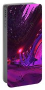 Abstract Street Scene Portable Battery Charger
