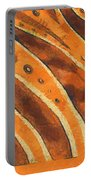 Abstract Tiger Stripes Portable Battery Charger